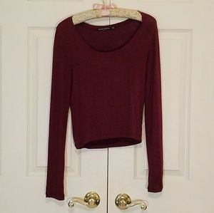 Brandy Melville Wine-Colored Top 🍷